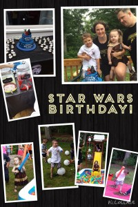 Star Wars Party Collage