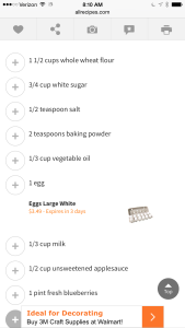 BB Muffin Recipe 1