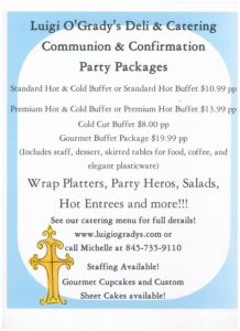 luigis communion flyer 2017