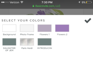Basic invite color choices start